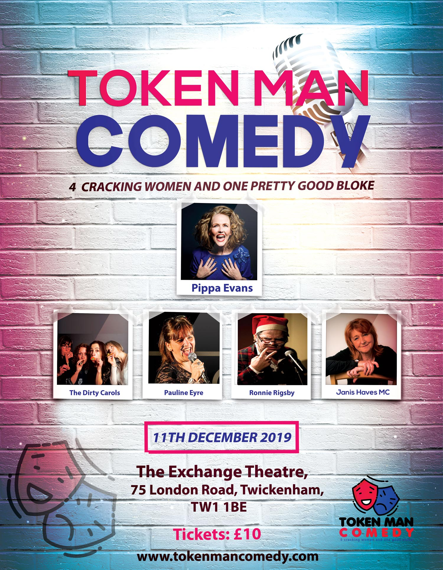 Token Man Comedy at the Exchange December 11 2019